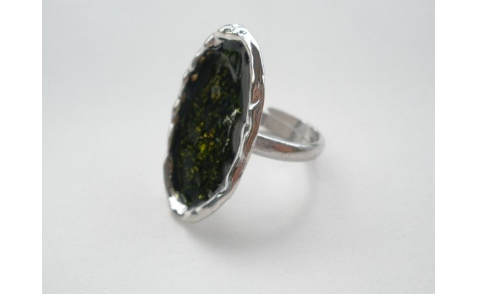 D 8sm Handmade silver ring with enamel
