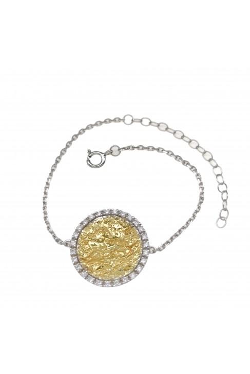 B 308 Silver jewel bracelet with zirgon