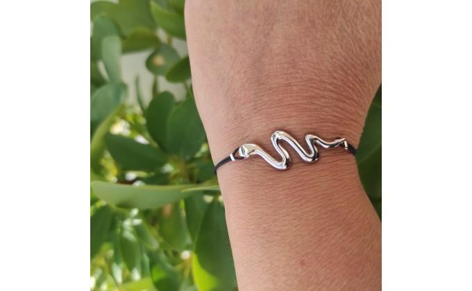 B 307 silver bracelet SNAKE
