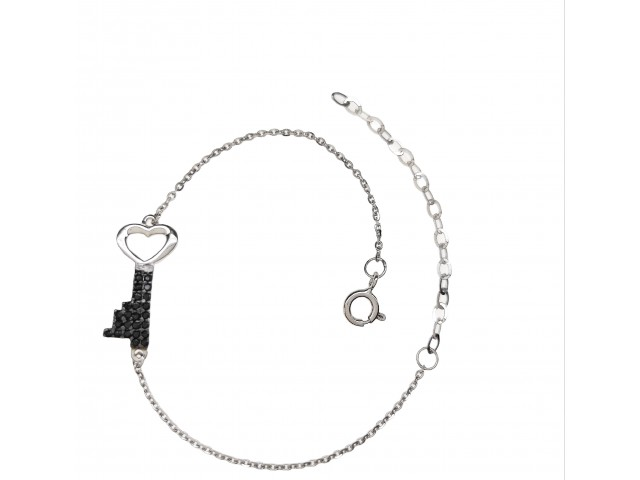 B 312 silver jewel bracelet with zirgon