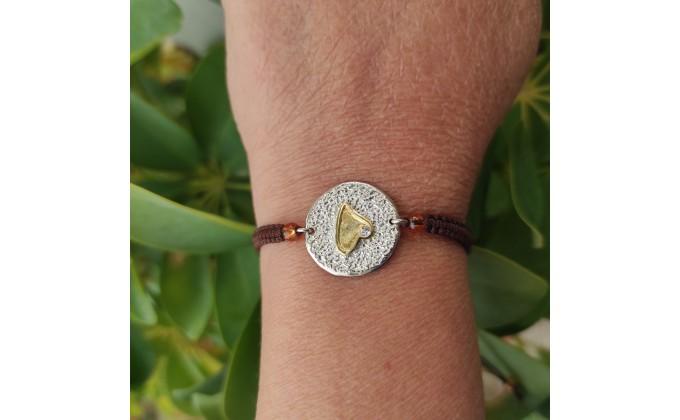 Β 64  handmade  silver jewel bracelet