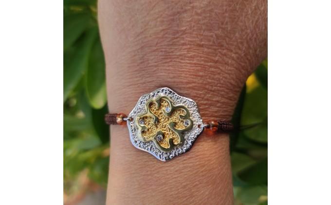 B 57 handmade silver jewel bracelet with zirgon