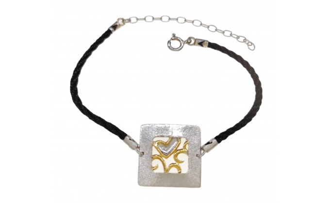 B 400 Handmade silver jewel bracelet