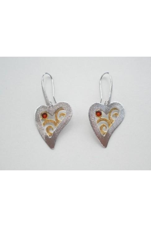 SK 396sm Handmade silver earrings