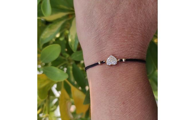 Β 206 silver bracelet zirgon