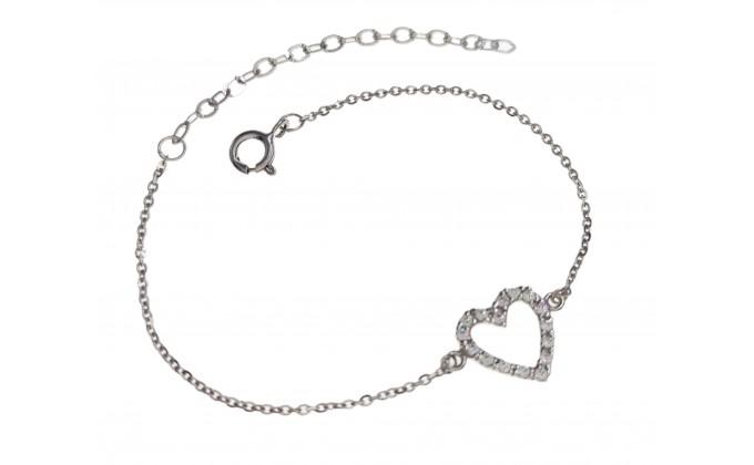 Β 235  silver bracelet zirgon