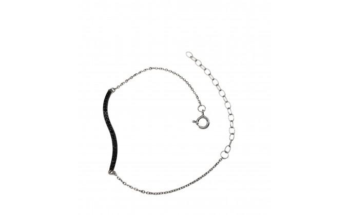 B 287 Silver jewel bracelet zirgon