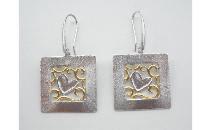 SK 398 Handmade silver earrings