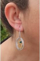 SK 404sm Handmade silver earrings