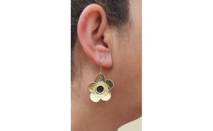 SK 97 Handmade silver earrings with enamel