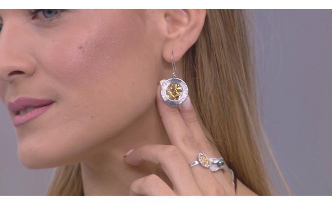 SK 403 Handmade silver jewel earrings