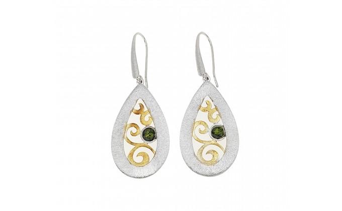 SK 405sm Handmade siver earrings with enamel