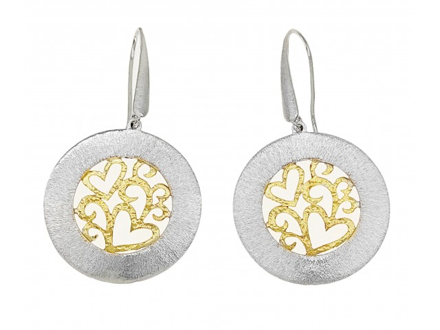 SK 402 handmade silver earrings