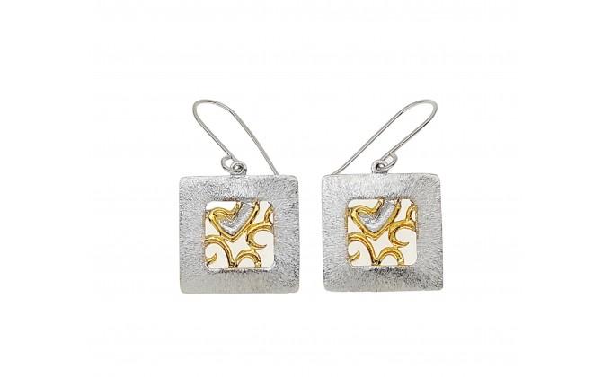 SK 398 Handmade silver earrings