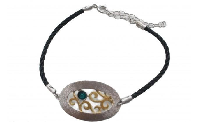 B 404sm handmade silver jewlery bracelet with enamel