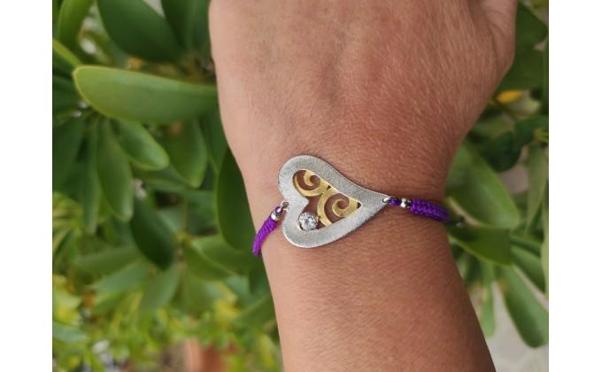 B 396zir  Handmade silver bracelets enamel