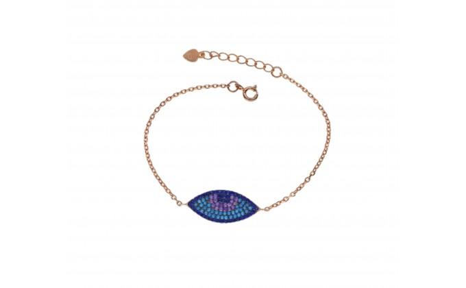 B 001 silver bracelet with zirgon mati