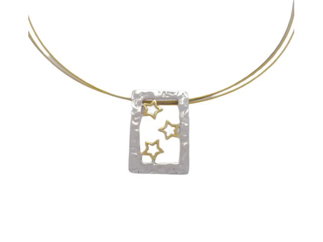 M 2 handmade silver pendants