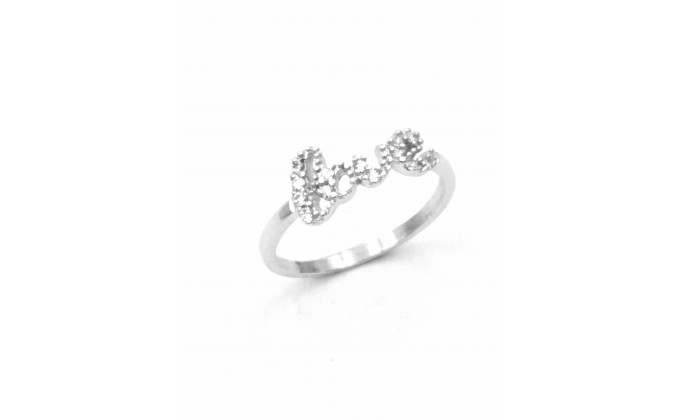D 321 Silver jewel ring