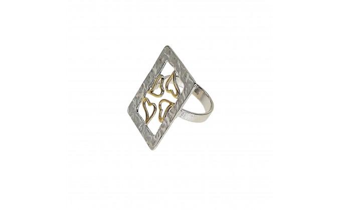 D 3 handmade silver ring