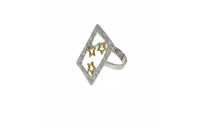 D 2 handmade silver ring