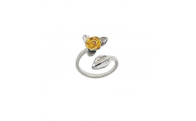 D118 silver ring rose