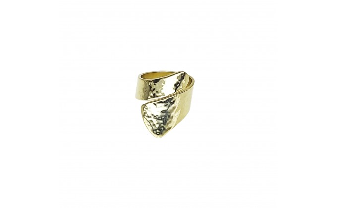 D 242g SILVER RING GOLD PLATED