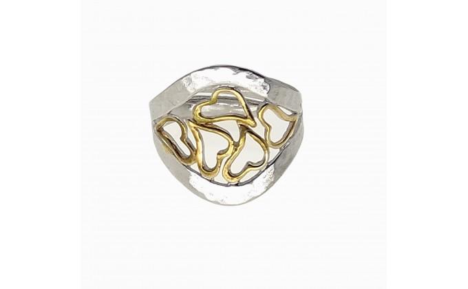 D 382 sg Handmade silver ring