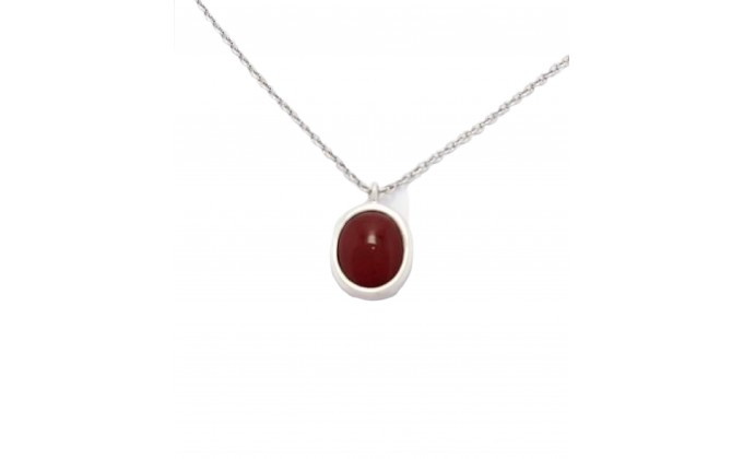M 79red handmade silver necklace