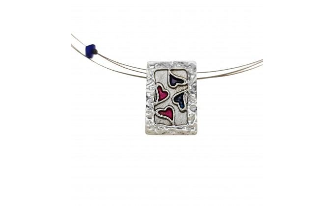 M 6sm Handmade silver pendant