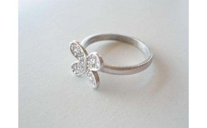 D 293 Silver ring  zirgon