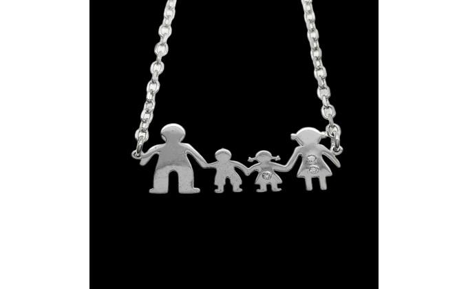 Κ 111 family necklace with zirgon