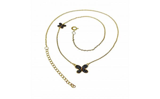 M 293 silver necklace zirgon
