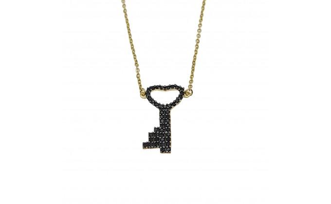 M 313 Silver necklace zirgon