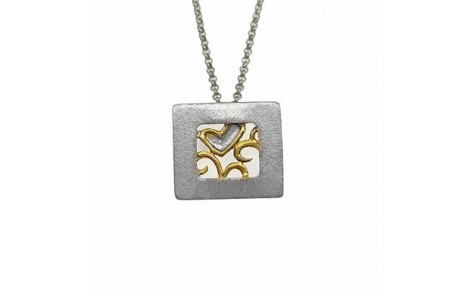 M 400 Handmade silver jewel pendant