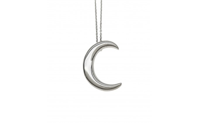 Μ 190 Moon necklace sterling silver