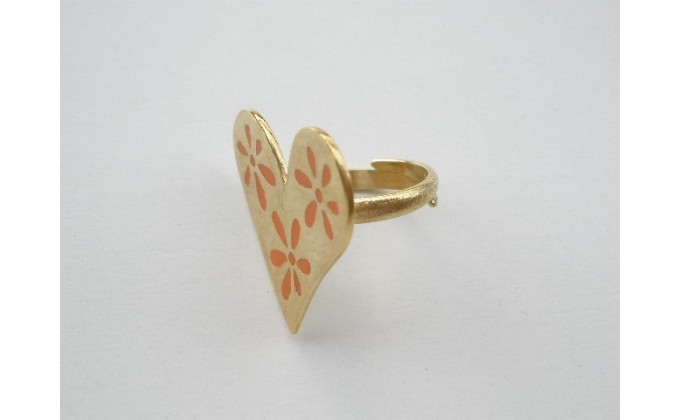 D 11SM Handmade silver ring with enamel