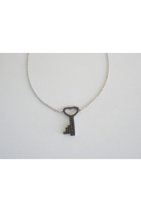 M 313 Silver necklace zirgon