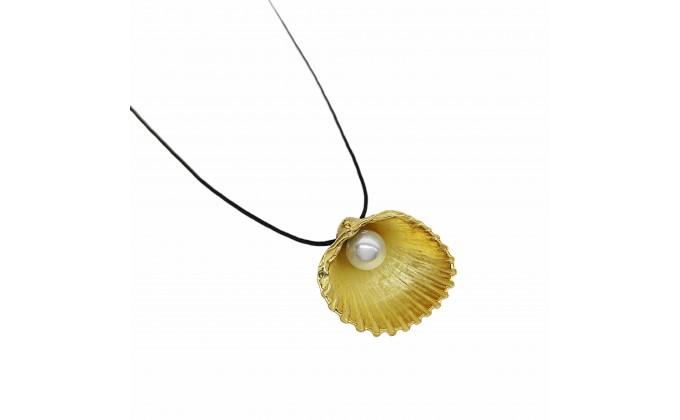 Μ 90p silver necklace with pearl
