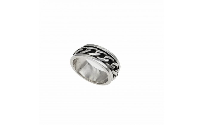 D 243 STERLING SILVER RING CHAIN