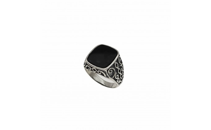 D 150bl. SOLID SILVER RING