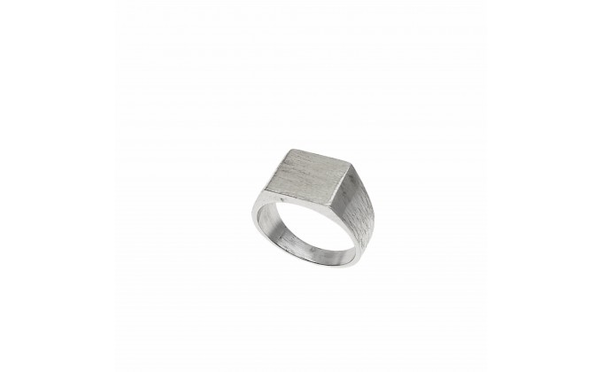 D 121 SOLID SILVER RING