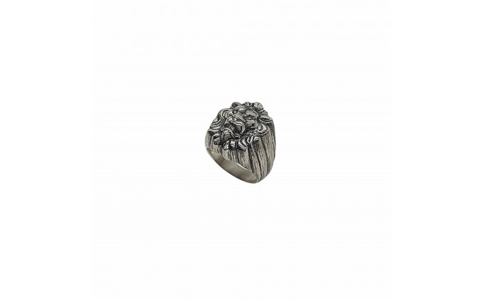 D 239 SOLID SILVER RING LION