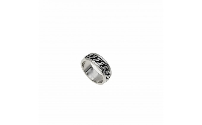 D 241 SOLID SILVER RING