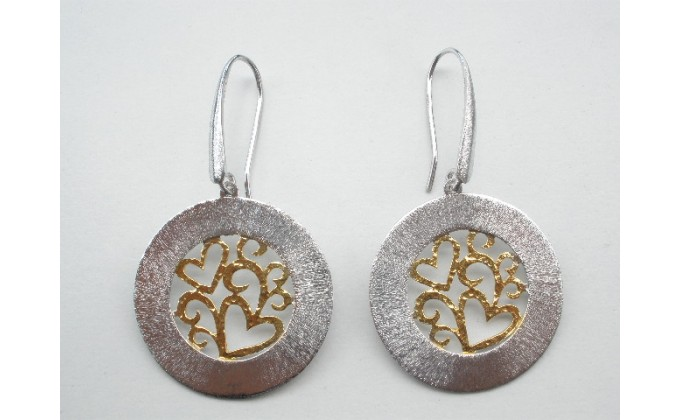 SK 402 handmade silver earrings