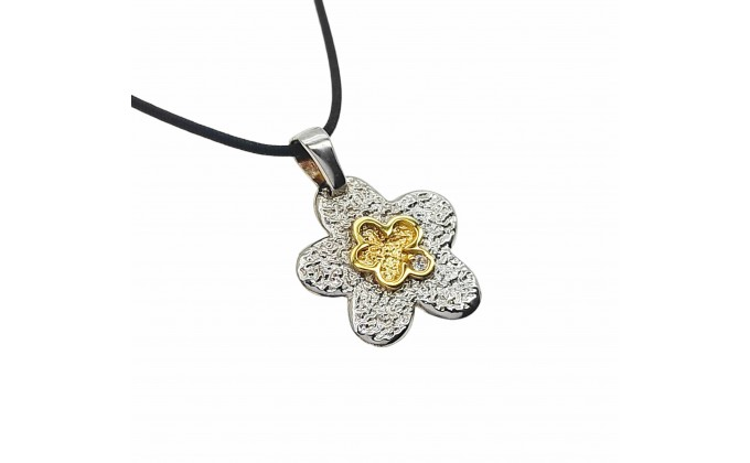 M 54 Handmade silver jewel pendant zirgon