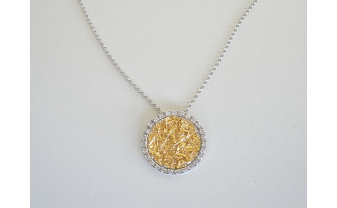 Μ 308 silver jewel necklace with zirgon