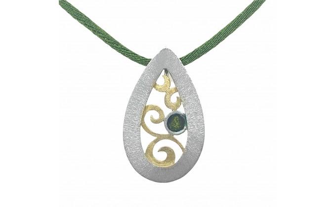 Μ 405sm Handmade silver pendant with enamel
