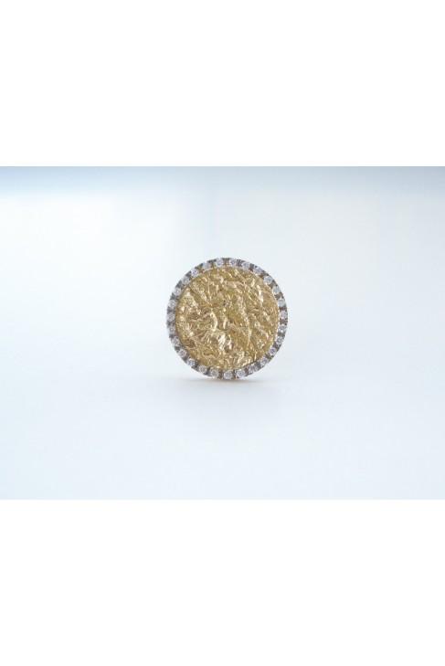 D 308 silver jewel ring zirgon