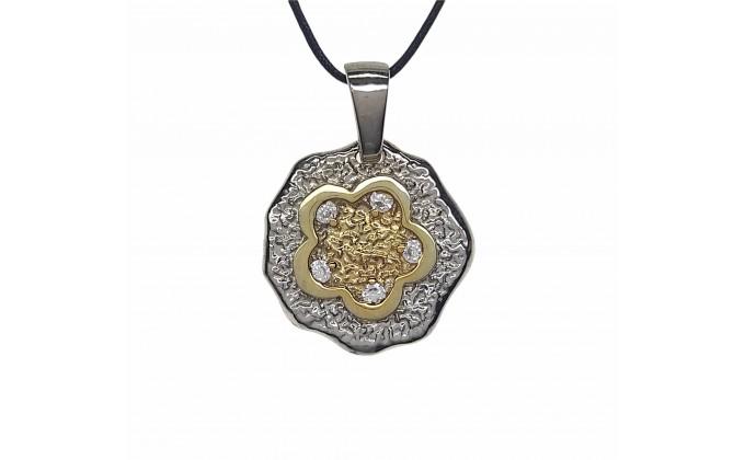 M 62 handmade silver jewel pendant zirgon